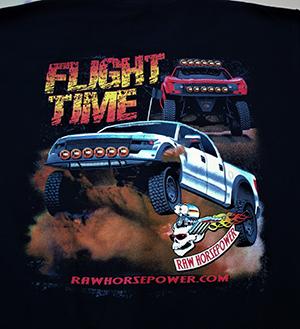 Raw Horsepower Flight Time Raptor shirt in black
