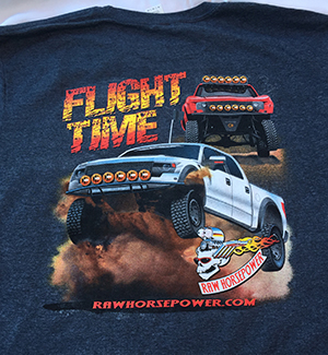Raw Horsepower Flight Time shirt in dark heather