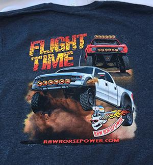 Raw Horsepower Flight Time shirt in dark heather