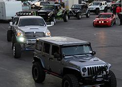 2013 SEMA cruise off road jeep and trucks